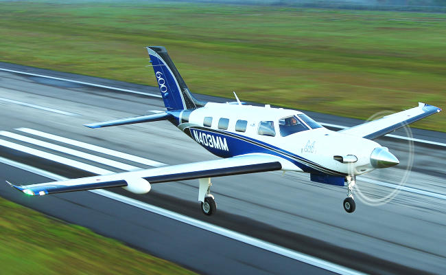 piper m600 landing for an airplane appraisal